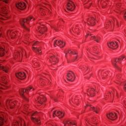 Afklip Patchworkstof med roser 50x55 cm.-20