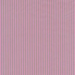 Patchwork stof stribet poplin i lysegrå og lyserød-20