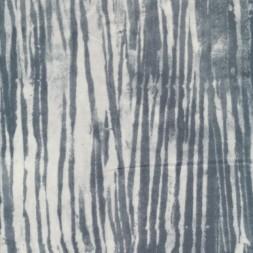 Patchwork stof med uens striber hvid grå-20