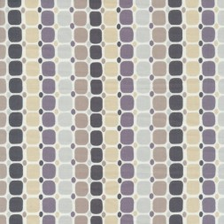 Patchwork stof med firkanter og prikker i striber-20