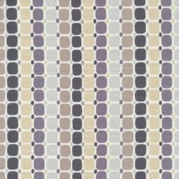 Afklip Patchwork stof med firkanter og prikker i striber 50x55 cm.-20