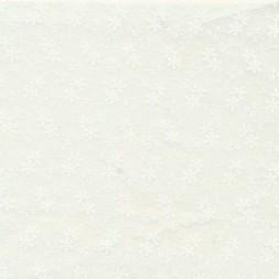 Patchwork stof med blomster i knækket hvid og hvid-20