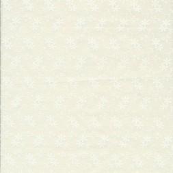 Patchwork stof med blomster i offwhite og hvid-20