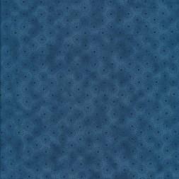 Patchwork stof let batik med cirkler i blå-20
