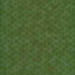 Afklip Patchwork stof let batik med cirkler i grøn 50x55 cm.-20