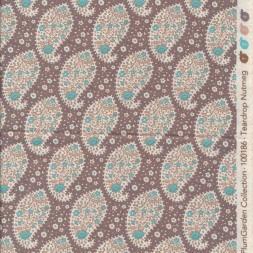 Tilda Patchwork stof i pudderbrun med sjalsmønster-20
