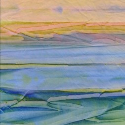 Afklip Patchworkstof batik i retro stripe irgrøn blå gul 50x55 cm.-20