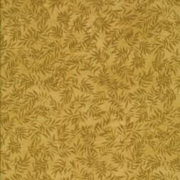 Afklip Patchwork stof i gylden med blade 50x55 cm.-20