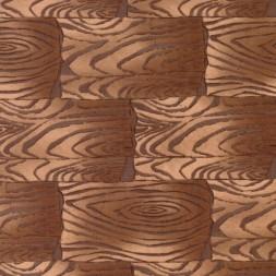Patchwork træ-look i firkanter stof i lysebrun og beige-20