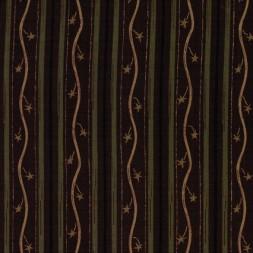 Afklip Patchwork stof med stribemønster i rødbrun, army og beige-20