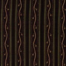 Rest Patchwork stof med stribemønster i rødbrun, army og bei, 80 cm.-20