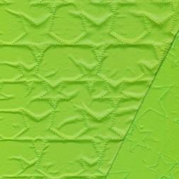 Quiltet m/stjerner, lime-20