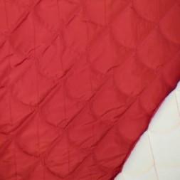 Quiltet stof i i buer i varm rød-20