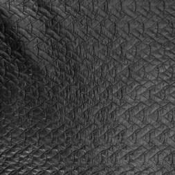 Quiltet med mønster i sort-20
