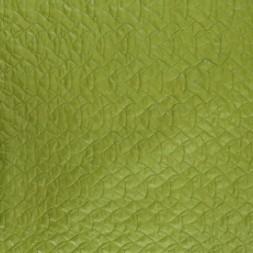 Quiltet med mønster i lime-20