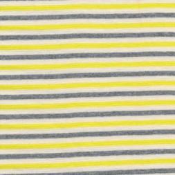 50 cm. Stribet rib off-white/gul/grå-20