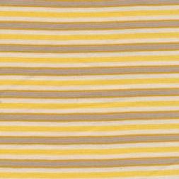 Rest Stribet rib off-white/gul/grå/okker 10 cm.-20