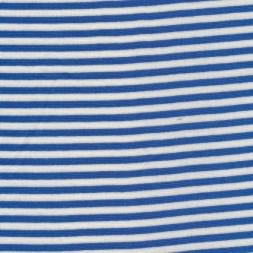 Stribet rib klar blå/knækket hvid-20