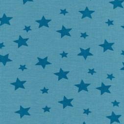 Rest Rib m/stjerner petrol-blå/petrol, 50 cm.-20
