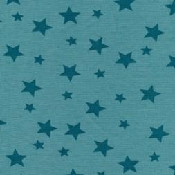 Rib m/stjerner lys petrol-grøn/petrol-20