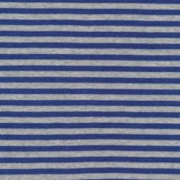 Stribet rib lysegrå meleret/blå-20