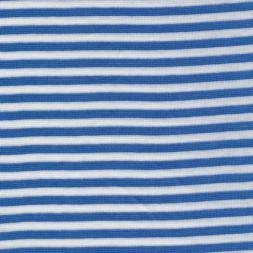 Rest Stribet rib hvid/blå, 18 cm.-20