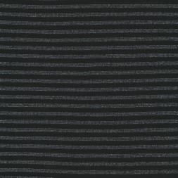 Stribet rib med lurex sort sølv-20