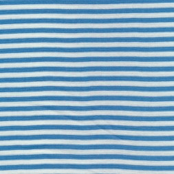 50 cm. Stribet rib hvid/lys blå-20