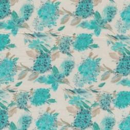 Silke-chiffon m/blomster kit/irgrøn-20