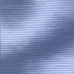 Skjortestof med smal strib i blå og hvid-20