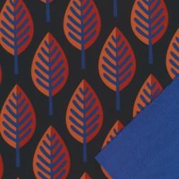 Softshell med blade i sort og koboltblå-20