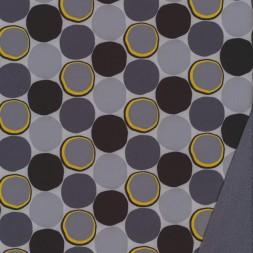 Softshell med cirkler i grå sort gul-20