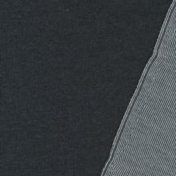 Rest Dobbelt strik koksgrå/stribet 150 cm.m. lille hul midt på.-20