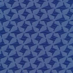 Rest Jacquard strik i hanefjeds-look, blå/klar blå, 35 cm.-20