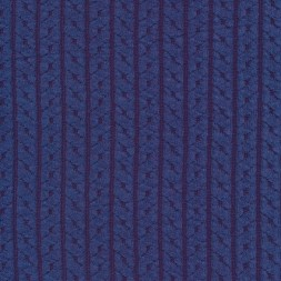 Jacquard strik m/kabel-mønster, lavendel-blå-20