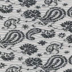 Jacquard strik m/sjals-mønster, knækket hvid/sort-20