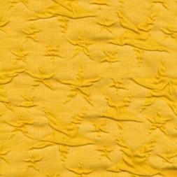 Jacquard strik jersey stjerner, gul-20