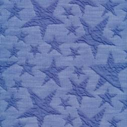 Rest Jacquard strik jersey stjerner, blå 100 cm.-20