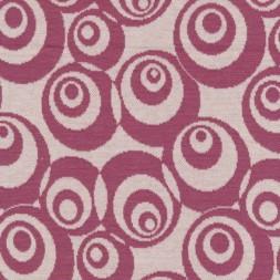 Afklip Jacquard strik m/cirkler off-white/mørk rosa, 75 cm.-20