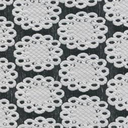 Jacquard strik m/flacon/cirkel sort/knækket hvid-20