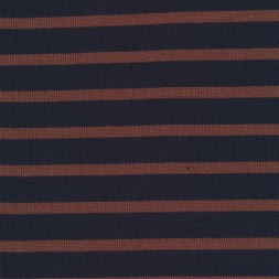 Stribet strik mørkeblå/rød-brun-20
