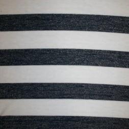 Let strik/jersey stribet hvid/mørkeblå m/glimmer-20