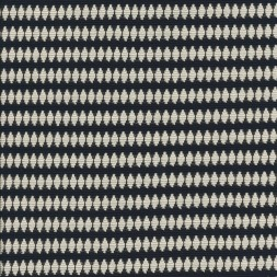 Stof i Jacquard strik med ovale prikker i striber