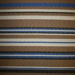 Strik i viskose polyester med striber i beige off-white klar blå-20