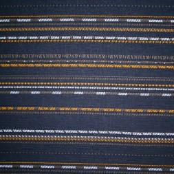 Jacquard strik mørkeblå med striber i carry og army-20