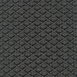 Kraftig jacquard strik med rudetern i grå og sort-20