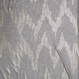 Ribstrikket i grå med guld tryk-20
