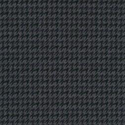 Strik-jersey med hanefjeds mønster grå meleret flaskegrøn koks-20