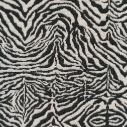Jacquard strik i zebra look i koksgrå og knækket hvid-20