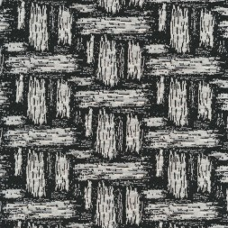 Jacquard strik i flet-look i sort og hvid-20